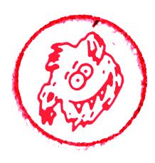 Toffe Stempel rot